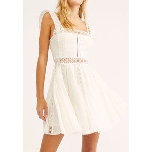 FP Verona Dress Ivory Fit & Flare Skater Cut-Outs
